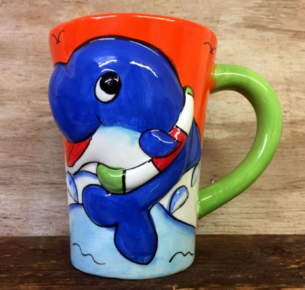 Cute Sea Life Colourful Ceramic Large Mug ~ Whale